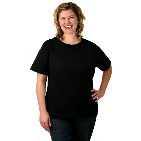Plus Size Scoop Neck Shirt