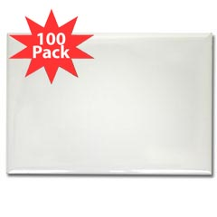 100 Pack Rectangular Magnets-click to view all designs on this product