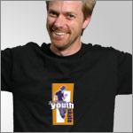 YOUTH SKATE Black T-shirt
