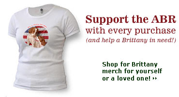 Support ABR with Brittany Dog Lovers Gifts and T-Shirts.