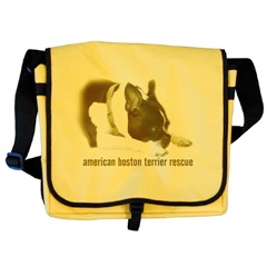 Boston Terrier B&W Portrait Messenger Bag Dog T-Shirts and gifts